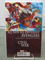 All New Avengers #8 Variant Cover Civil War Marvel Comics vf/nm CB1780