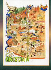 postcard   USA Arizona printed map   unposted