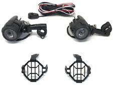 30W Motorbike Spotlights + Wiring & Switch Kit for Adventure Bike Quad Trike ATV