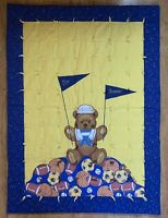 Chicago Bears Football Vintage Quilted Handmade Baby Blanket Wall Hanging