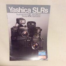 YASHICA SLR CAMERAS SALES LEAFLET