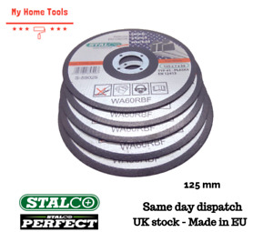 5x Metal Angle Grinder Cutting Discs 125mm- METAL STEEL Saw Quality Stalco