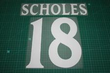 Manchester United 00/01 #18 SCHOLES UEFA Chaimpons League Awaykit Nameset Print