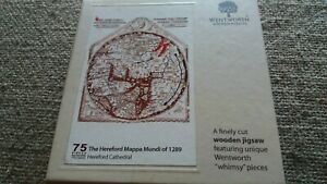 Wentworth wooden jigsaw puzzle Hereford Mappa Mundi of 1289, Hereford Cathedral