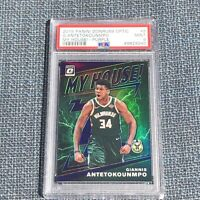 2019-20 Panini Donruss Optic Giannis Antetokounmpo My House Purple PSA 9