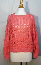 NWOT Ecoté Urban Outfitters Peachy Pink Sweater Medium M Spring Summer