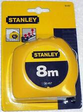 """Stanley 8m x 1"""" Metric Only Tape Measure Rule Ruler 30-457 - New Factory Sealed"""