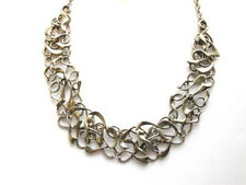 """Silver Casting Swirl Swirly 18"""" Statement Necklace Short Present Clearance Sale"""