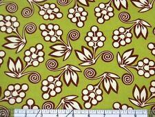 Michael Miller Ginger Blossom Buds Avocado Fabric BHY
