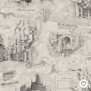 NEW RoomMates Harry Potter Map Peel and Stick Wallpaper 3 Rolls