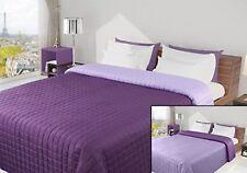 Colcha Bedcover Cubierta 220X240 Reversible Violeta Púrpura Lila Acolchado Lightwe