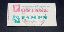 AUSTRALIA 1963 5/- BOOKLET OF 12 5D GREEN QE2  PINK STITCHING  MINT COND