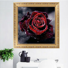 DIY 5D Red Rose Diamond Embroidery Painting Flower Cross Stitch Home Decor