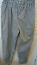 Chef Design Size Xl-00 Black White Checkered Elastic Drawstring Work Pant