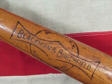 "Vintage 1940s Blackman & Burchfield Wood Baseball Bat The Belmont 35"" Belmont,NY"