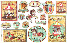 Rice Paper for Decoupage Scrapbooking Sheets Vintage Toys Girl