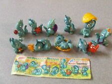 Set Vintage Kinder Surprise toys Drolly Dino figures 1993 Dinosaurs at the Beach