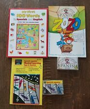 Kids Spanish Learn It's Fun to Speak Spanish  Cassette book Musical Pop up book