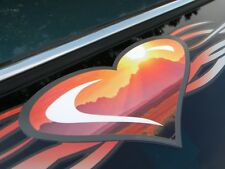 TRIBAL HEART Mountain Sunset windshield decal PT Cruiser HHR VW Chevy Ford Dodge