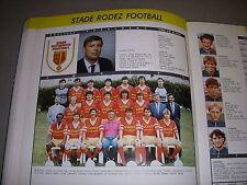 FOOTBALL COUPURE LIVRE PHOTO COULEUR 20x10 D2 GrB STADE RODEZ FOOTBALL 1988/1989
