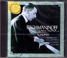 RACHMANINOFF Plays CHOPIN Piano Sonata No.2 Ballade Scherzo Waltz CD RACHMANINOV