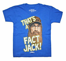 """Duck Dynasty """"That's a Fact Jack"""" Boys T Shirt MED (8) Si COMMANDER ROBERTSON"""