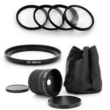 HD 52mm Wide Fish Eye 0.18x Lens,Macro for Nikon D50 D60 D70 D100 18-55mm camera