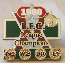 LIVERPOOL FC Victory Pins 1980 LEAGUE CHAMPIONS Badge Maker Danbury Mint