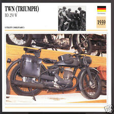 1939 TWN (German Triumph) BD 250 W WW2 Army Motorcycle Photo Spec Info Stat Card