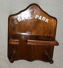 VGUC Brown Wooden Sports Display Shelf Bat & Ball Display / Storage Hanger
