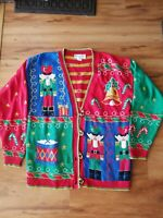 Casual Corner Ugly Christmas Sweater Nutcracker Size Small