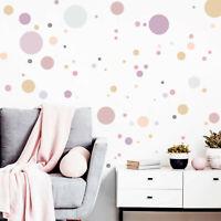 Wandtattoo Kinderzimmer 90 Kreise Pastell Dekokreise Aufkleber Set rund Sticker