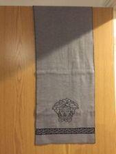Versace Medusa Greca Nero e Grigio Lana Knit Sciarpa 33cm x 174cm RRP £ 240