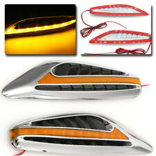 2X Yellow Universal Blade Car Steering Light Led Turn Signal Fender Side Lights