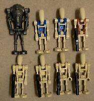 Lego Battle Droid lot Star Wars Super brown Security blue Pilot minifigures