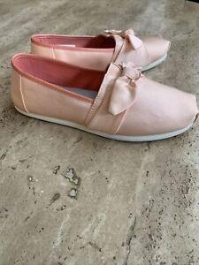 TOMS Slip-on Grosgrain Bow Women's Classics Blush Shoes Pink Size 5