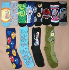 12 Pairs Rick and Morty Socks 4 Crew 8 Low Cut Mens Size 6-12