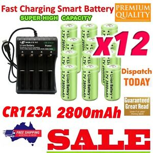 12xCR123A ICR 16340 Bat 2800mAh Rechargeable +4Slot For Arlo Security Camera L70