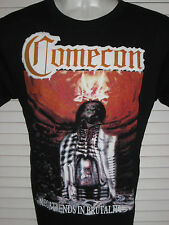COMECON Megatrends In Brutality BLACK T-SHIRT SIZE SMALL 100% COTTON YAZBEK BRAN
