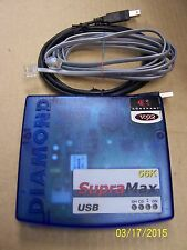Diamond Supramax 56K USB External Modem 32680001-005 with cables