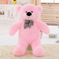New 31''Big Stuffed Teddy Bear Plush Pillow Doll Pink Animal  Birthday Gift 80cm