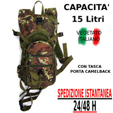 Zaino MILITARE nylon vegetato italiano caccia escursionismo 15 Litri tempo liber