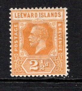 Leeward Islands KGV (Wmk Script) 2½d. Orange Yellow SG66 M/Mint