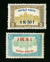 Hungary Stamps # C1-2 VF OG NH Signed Catalog Value $100.00