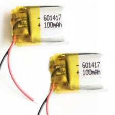 2 x pcs 3.7V 100mAh lipo Polymer Li Battery For MP3 Bluetooth vedio Pen 601417