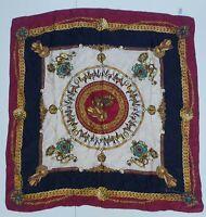 foulard gianni versace 100% silk pura seta original vintage barocco made italy