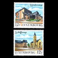 Luxembourg 1990 - Statesmen Architecture - Sc 841/2 MNH