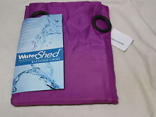 New WATERSHED Single Solution Grommet Shower Curtain 72x72 DORSET SOLID ~ GRAPE