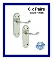 3 X Ashworth/' Interior LATCH Door Handle Pack Black Nickel Finish /'Ashford/'  D1