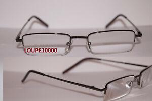 lunettes loupe de lecture pré montées  métal en  4 COLORIS réf  L7005 N° TOP10